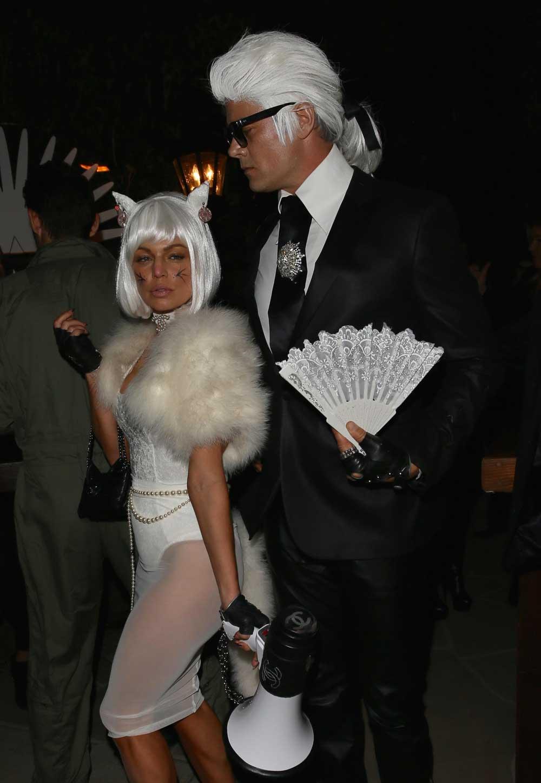 Karl Lagerfeld & Choupette Halloween costume