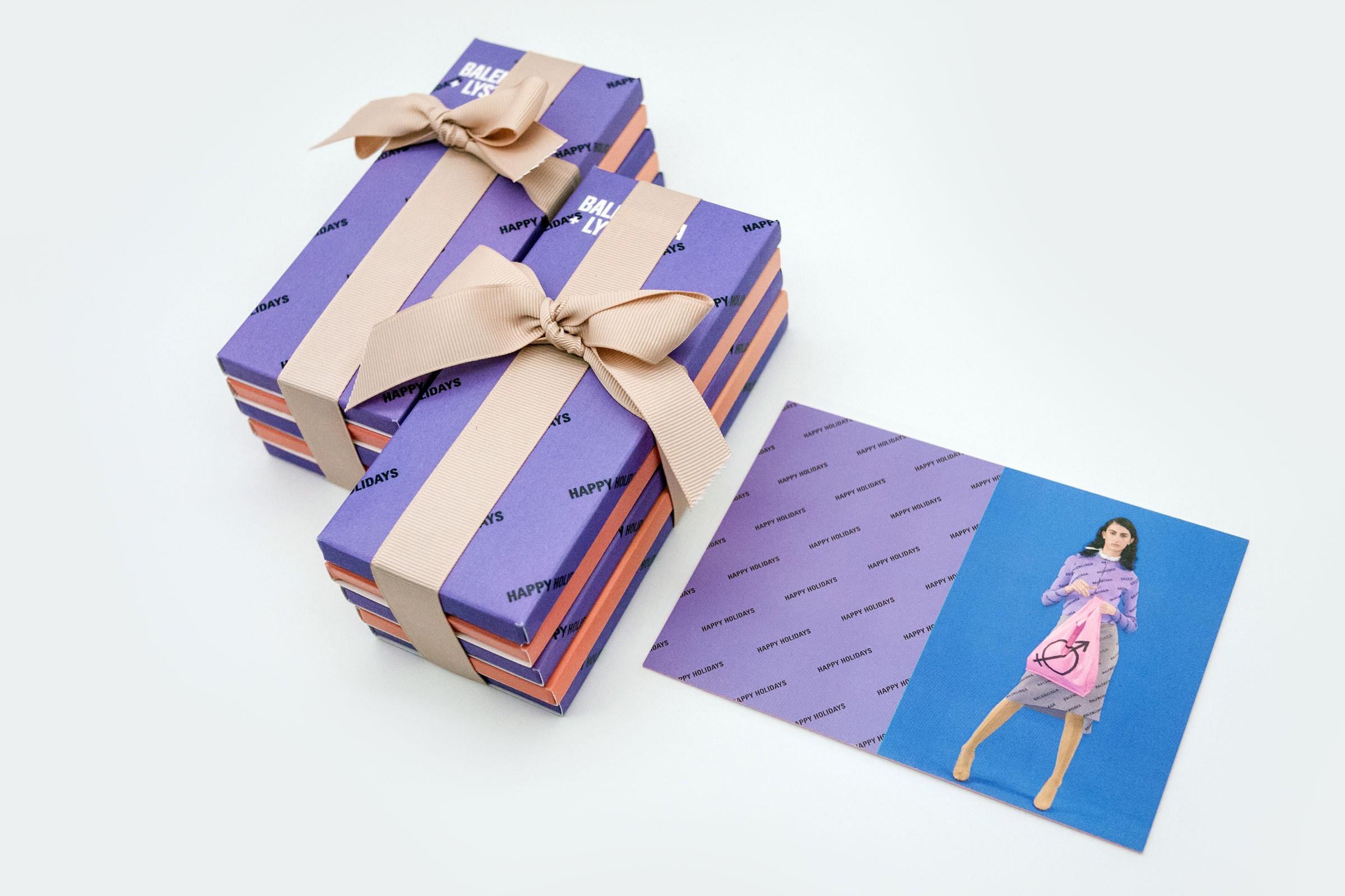 Balenciaga inspired chocolate bars by Lyst