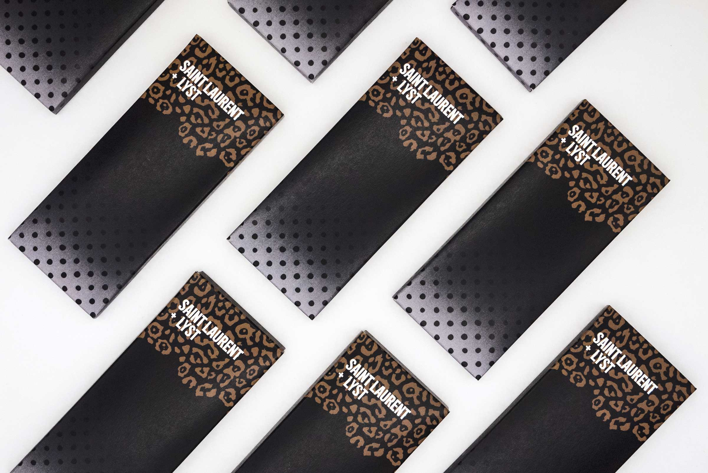 Saint Laurent inspired chocolate bar by Lyst