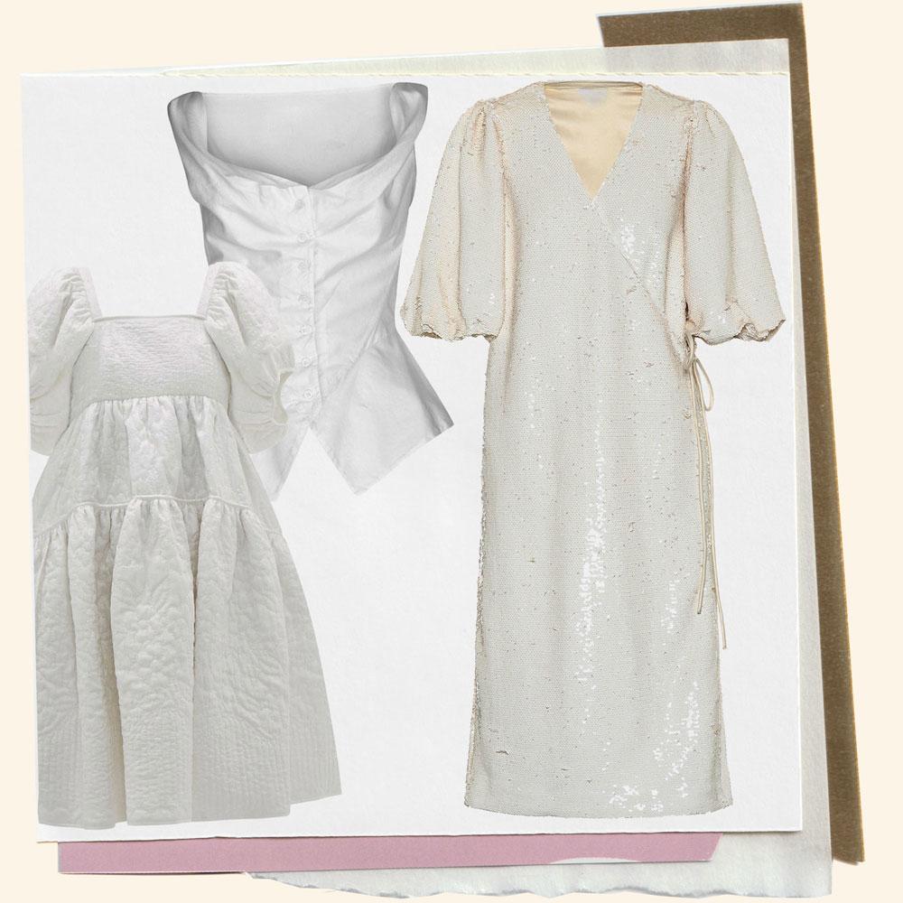 Collage of bridalwear