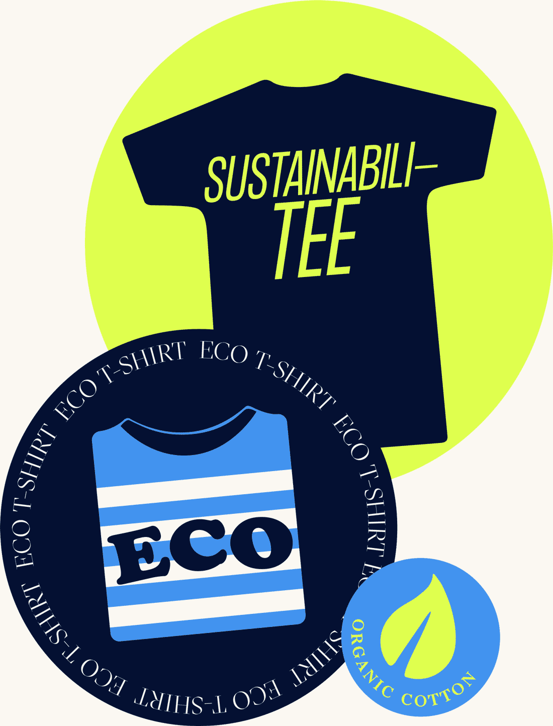 Sustainability and Eco t-shirt graphics