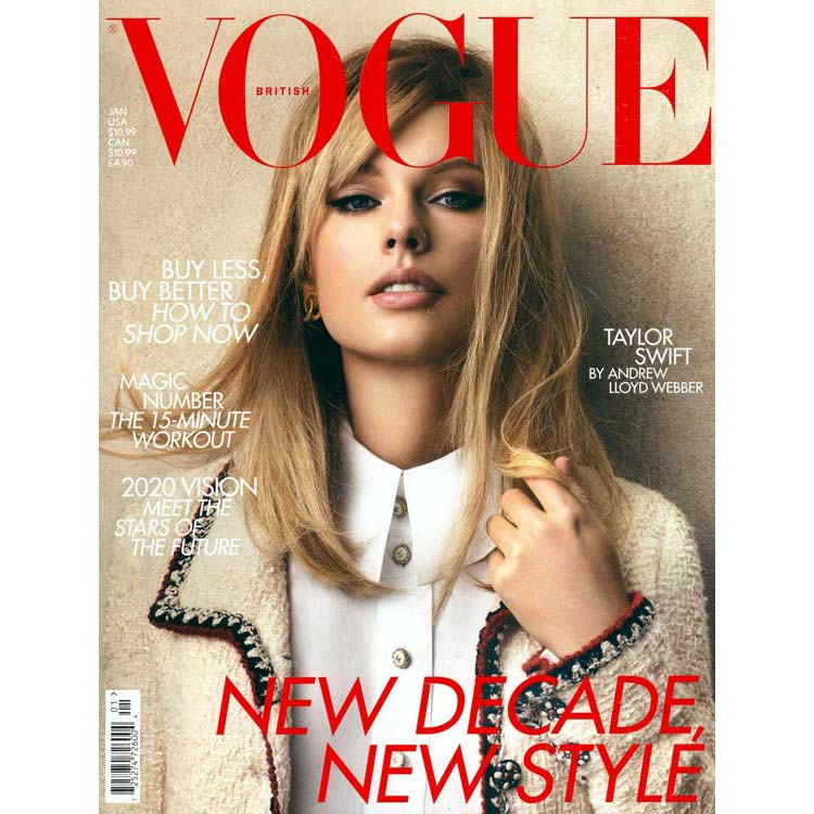 Taylor Swift on the British Vogue cover