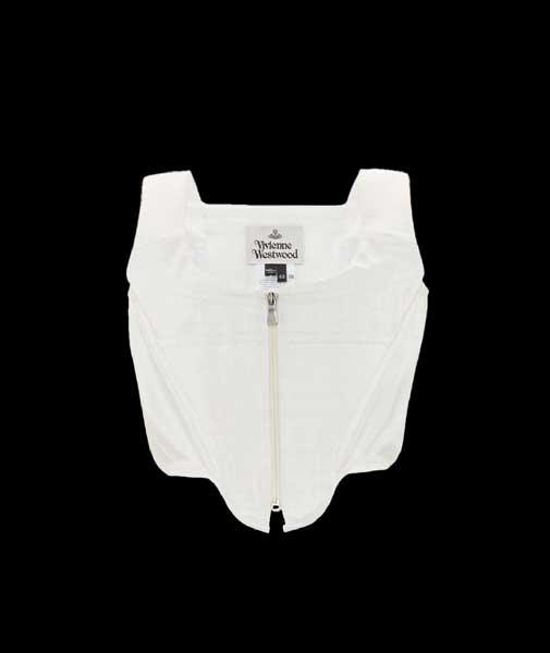 Zipped Charmeuse corset