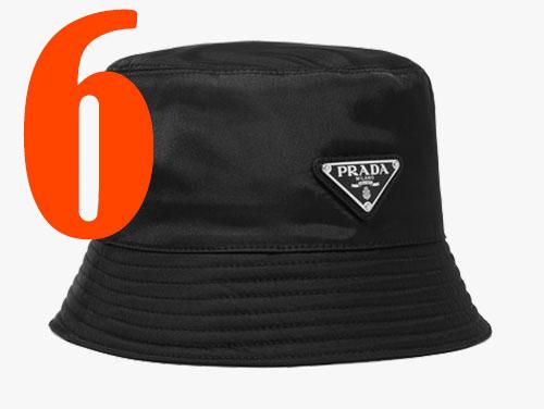 Bucket-Hat aus Nylon von Prada