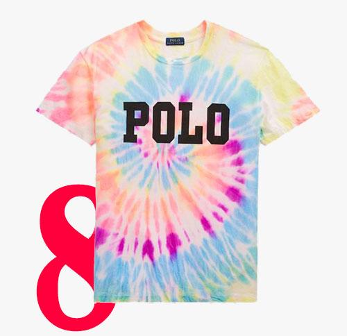 Gebatiktes T-Shirt von Polo Ralph Lauren