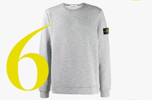 Sweatshirt mit Aufnäher von Stone Island