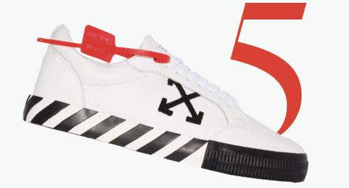 Photo: Niedrig geschnittene, vulkanisierte Sneaker von Off-White