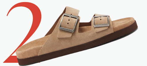 Photo: Brunello Cucinelli double buckle suede sandals