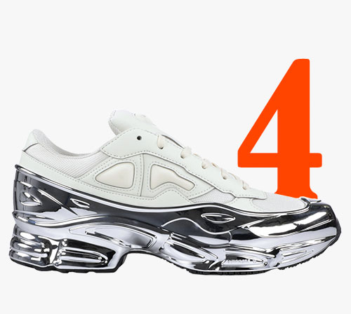 Zapatillas Adidas x Raf Simons Ozweego en plata metalizada