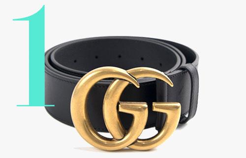 Cinturón con logotipo GG de Gucci