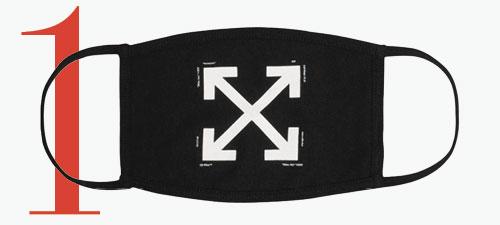 Photo: Mascarilla con logo de flechas de Off-White