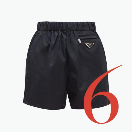 Photo: Shorts de gabardina de nailon de Prada