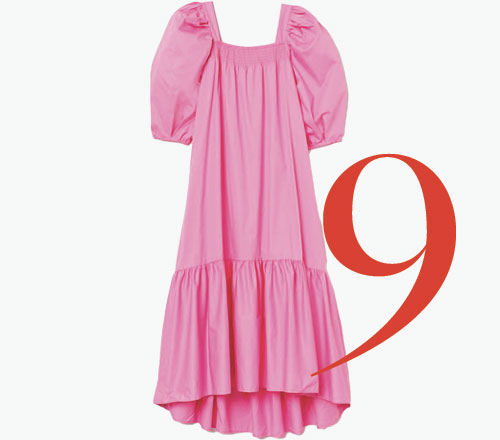 Photo: Vestido de algodón con manga «puffy» de H&M