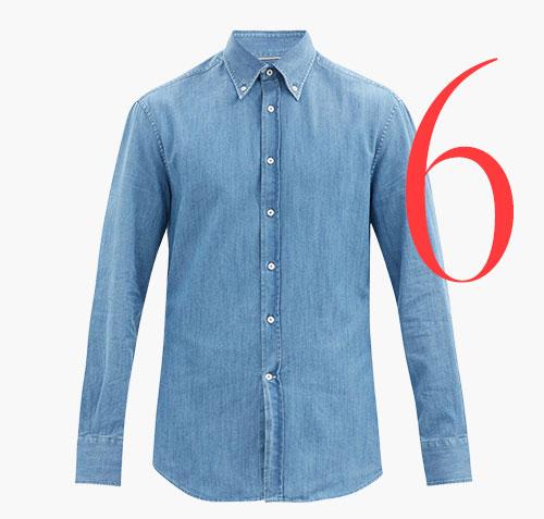 Photo: Camisa vaquera de botones de Brunello Cucinelli