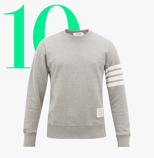 Photo: Sweat-shirt en jersey 4-bar Thom Browne