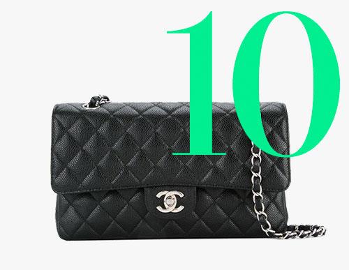 Photo: Sac classique à double rabats d'occasion Chanel