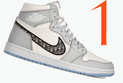Photo: Baskets Air Jordan 1 High OG de Dior x Nike