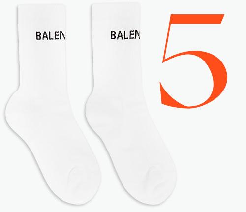 Photo: Chaussettes de tennis à logo de Balenciaga