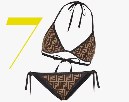 Bikini con motivo FF di Fendi