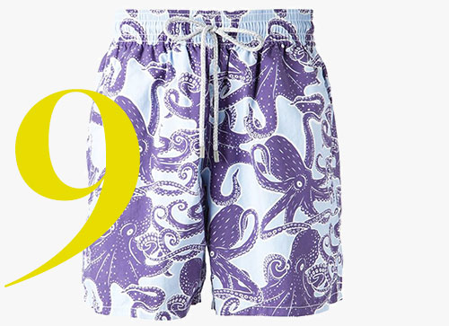 Pantaloncini da bagno con stampa polipi di Vilebrequin