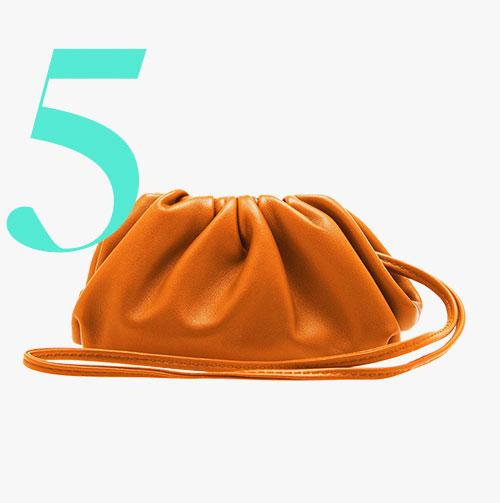 Mini clutch in pelle The Pouch di Bottega Veneta
