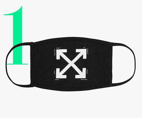Photo: Mascherina con logo a freccia di Off-White