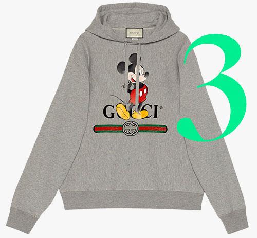 Photo: Felpa con cappuccio di Gucci x Disney
