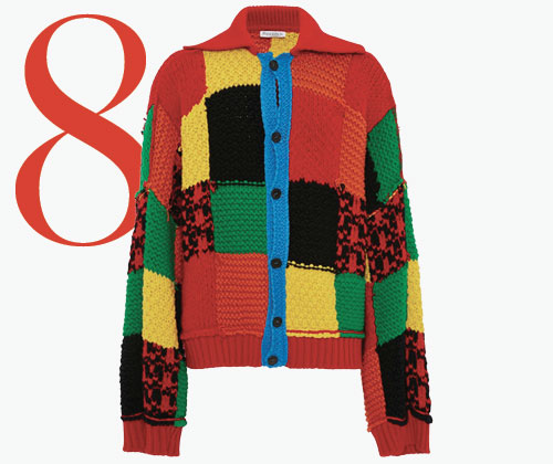 Photo: Cardigan con design patchwork e color-block di JW Anderson