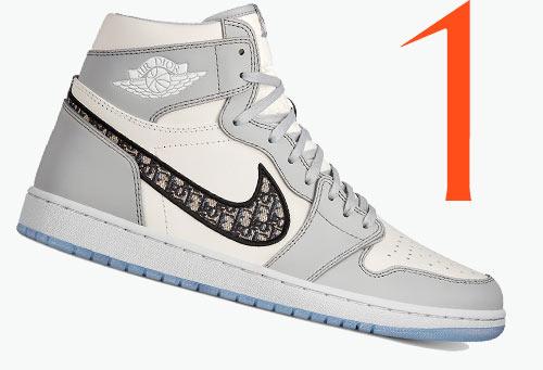 Photo: Sneaker Air Jordan 1 High OG di Dior x Nike