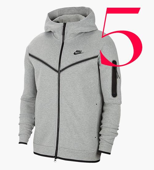 Photo: Felpa con cappuccio e zip in pile tech di Nike