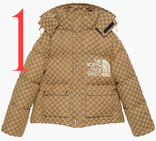 Photo: Giacca bomber in tela GG di The North Face x Gucci
