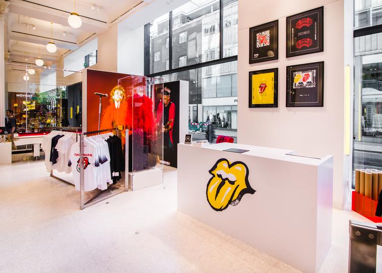 55f7734f59b2 Selfridges Pop-up Honors The Rolling Stones