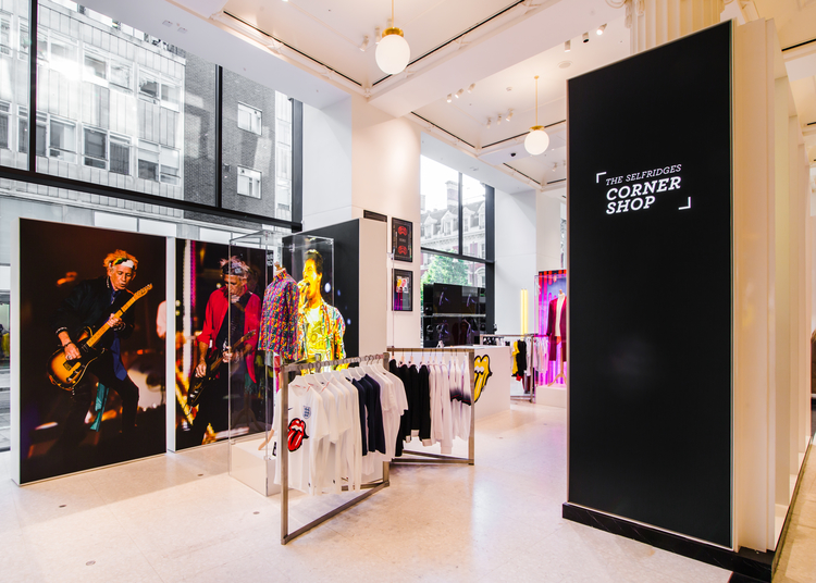 Selfridges Pop Up Honors The Rolling Stones