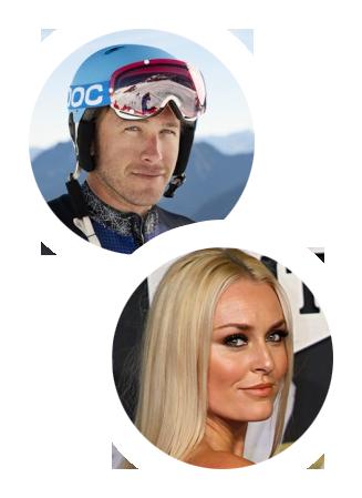 Bode Miller and Lindsey Vonn