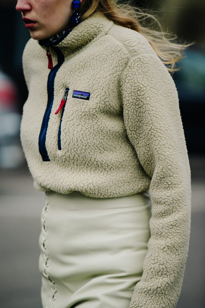 An Image of a Woman Wearing a Patagonia Fleece