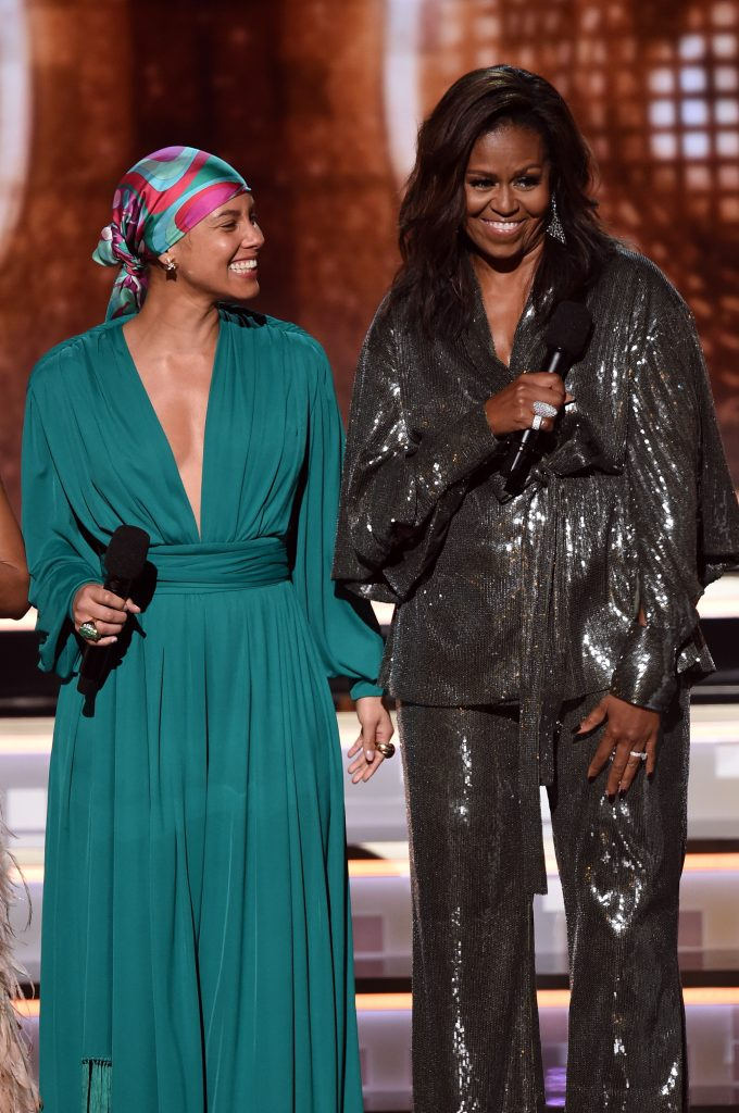 An Image of Michelle Obama at the 2019 Grammy Awards