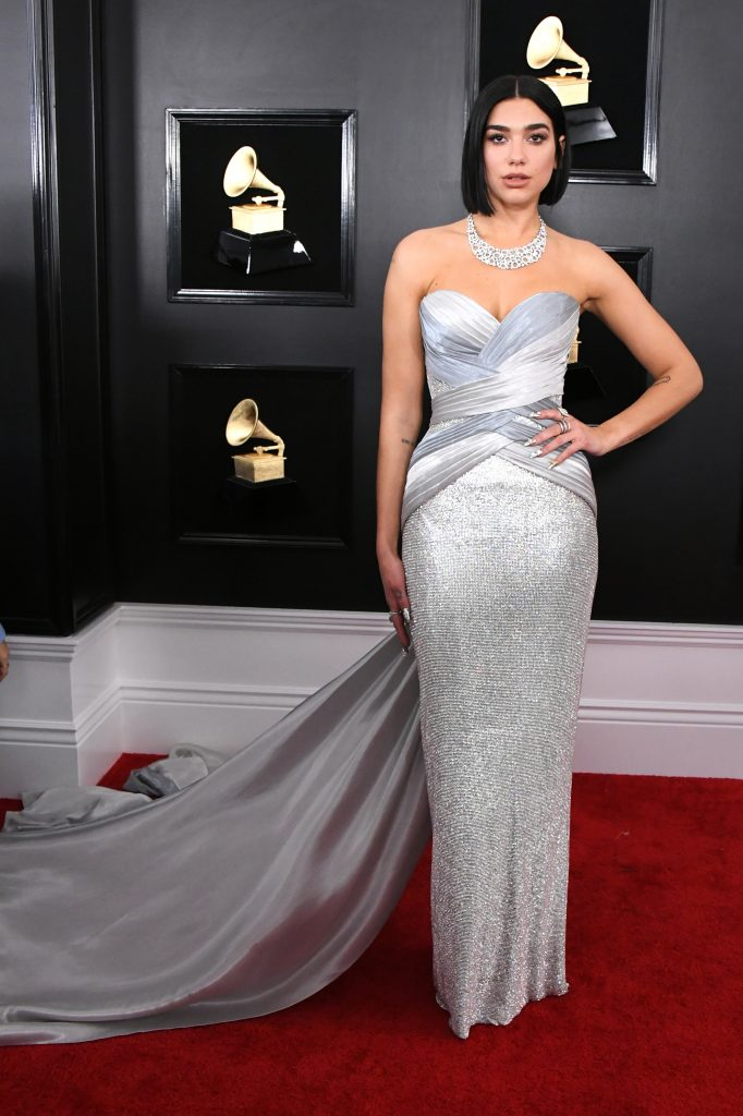 An Image of Dua Lipa at the 2019 Grammy Awards