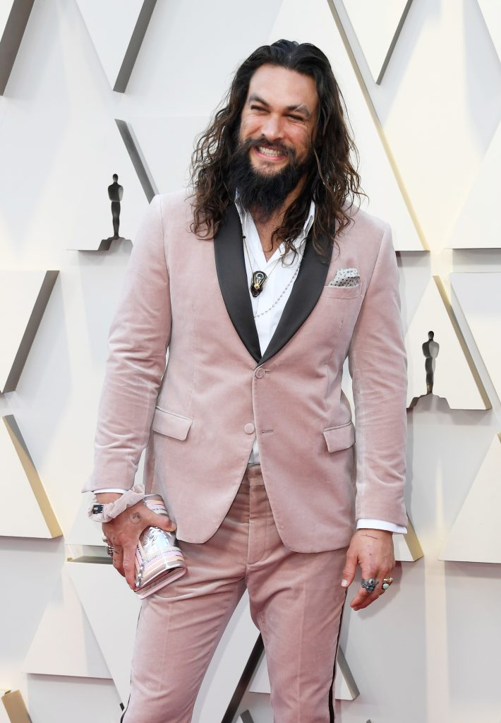 An Image of Jason Momoa at the 2019 Oscars