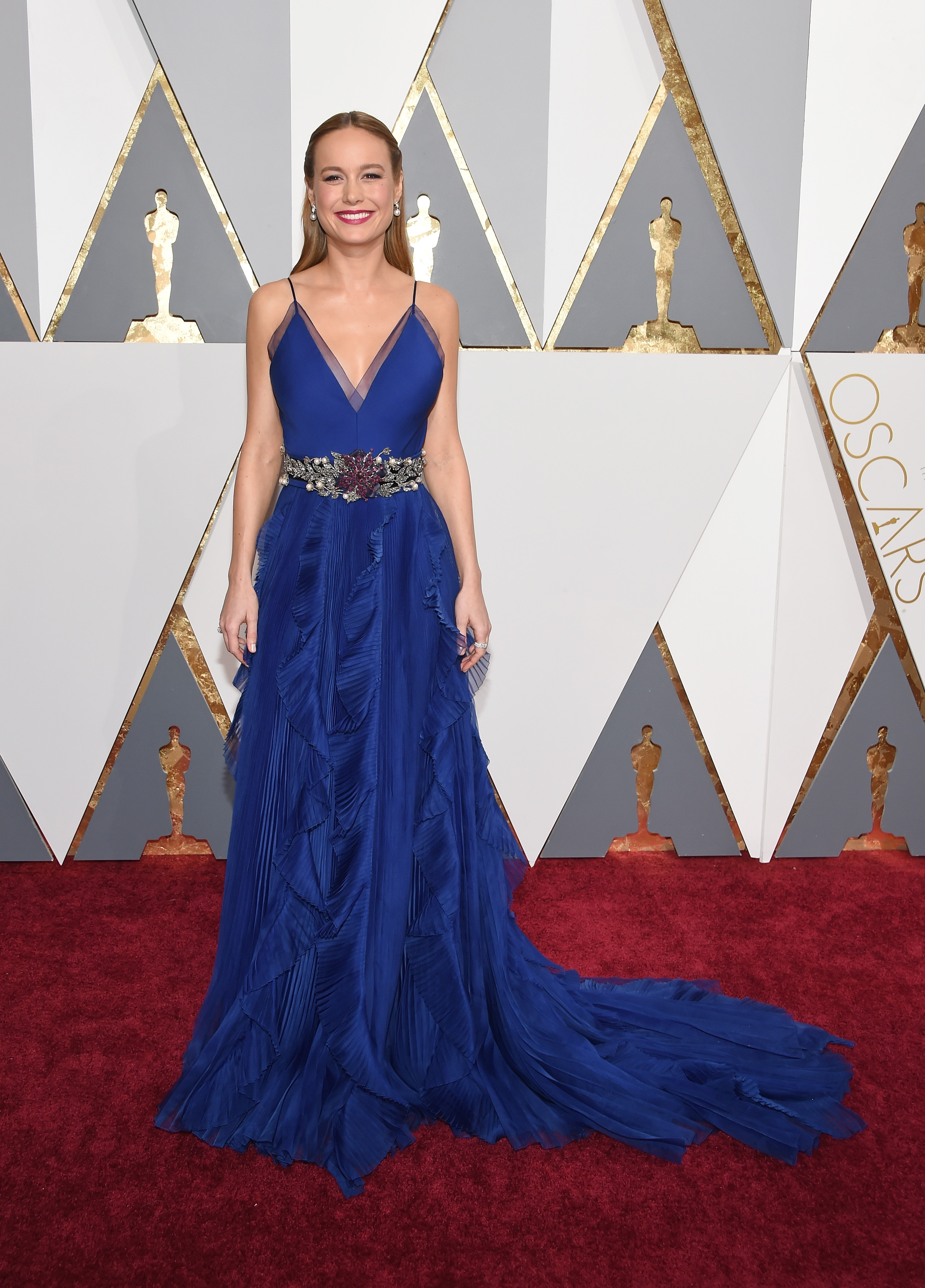 An Image of Brie Larson at the 2016 Oscars