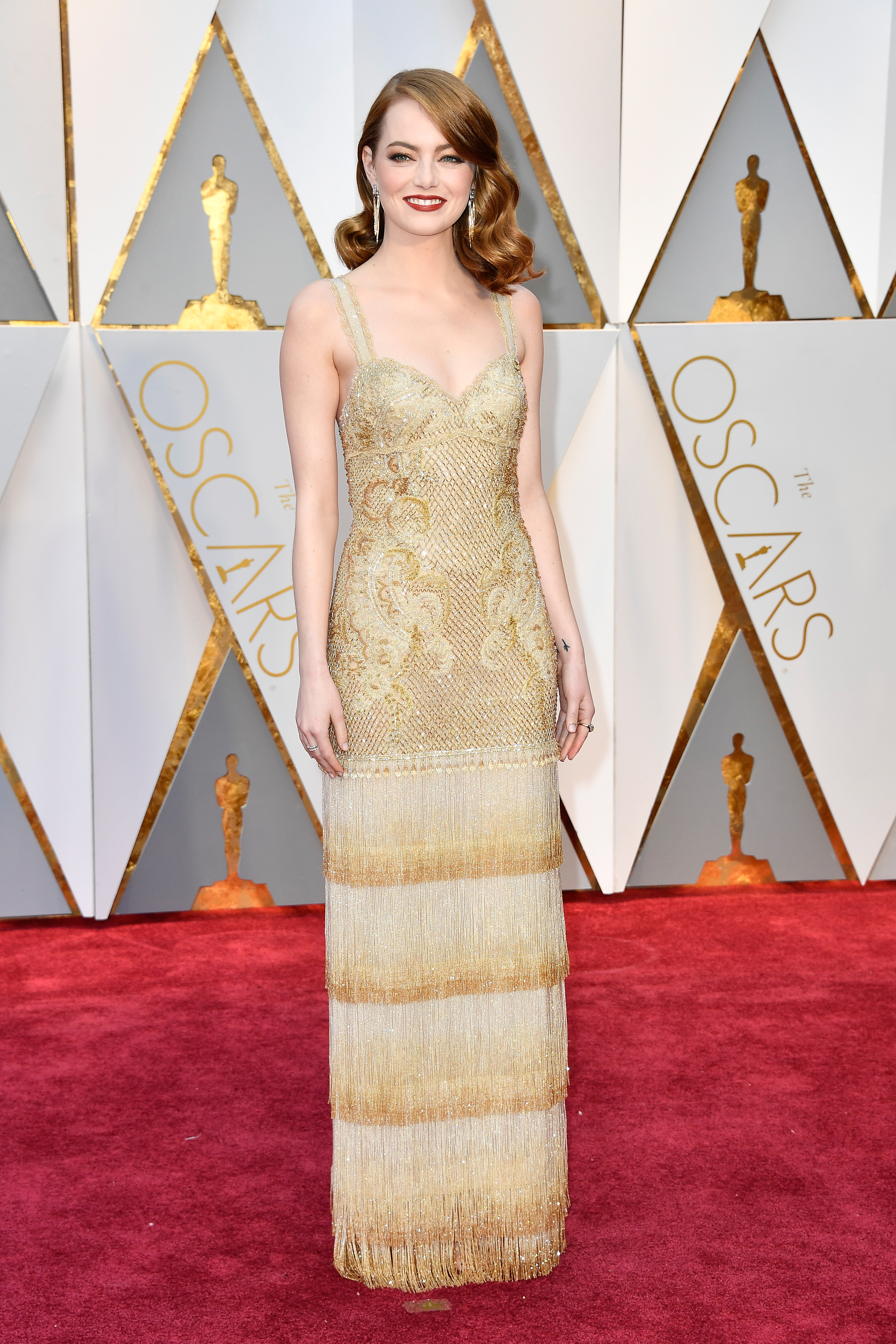 An Image of Emma Stone at the 2017 Oscars