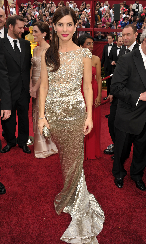 An Image of Sandra Bullock at the 2010 Oscars