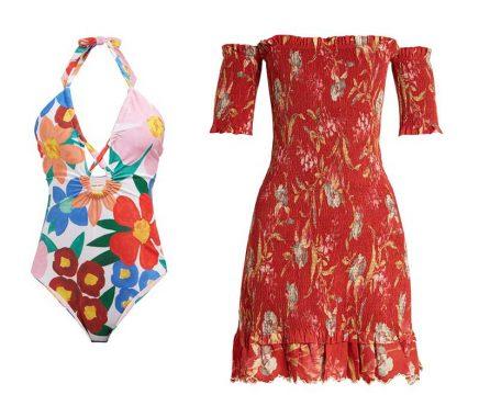 Zimmermann Linen And Cotton Blend Dress and Mara Hoffman Floral Print Swimsuit