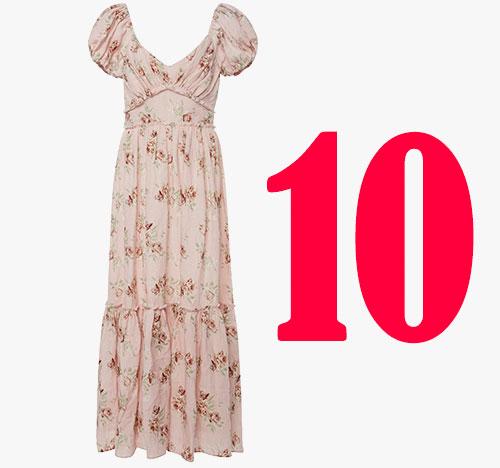 Love Shack Fancy Angie zijden jurk