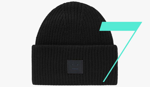 Acne Studios Face-Patch-beanie