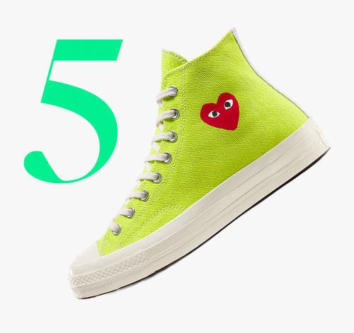 Photo: Comme des Garçons Play x Converse Chuck 70 hoge sneakers