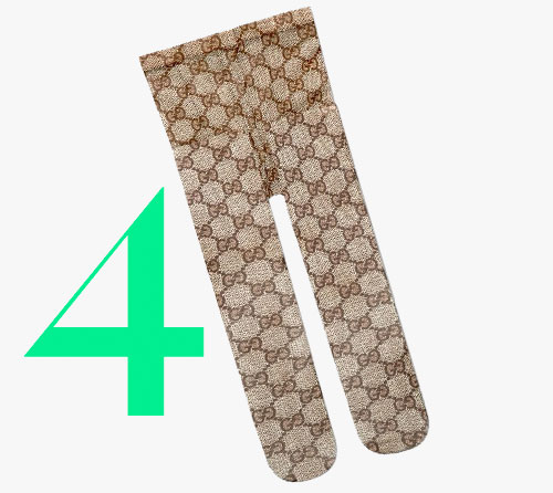 Photo: Gucci-legging met GG-patroon