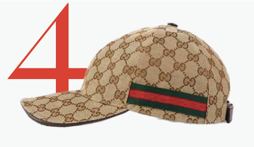Photo: Gucci-baseballpet met GG-logo